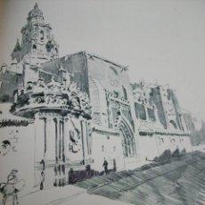 Arte: MURCIA CATEDRAL LITOGRAFIA 1915 ASPIAZU ILUSTRADOR 24 X 31 CMTS. Lote 147384190