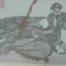 Arte: LA TAUROMAQUIA 77 JESÚS FUERTES. Lote 147482226