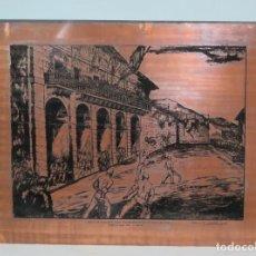 Arte: PLANCHA ORIGINAL DE COBRE PARA LITOGRAFIA. PARTIDO DE PELOTA FRONTON DE ELGOIBAR. GUSTAVO DE MAEZTU. Lote 147530170