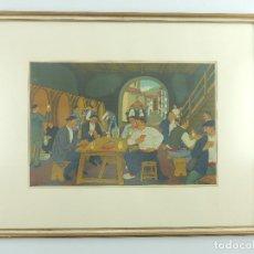 Arte: PRECIOSA LITOGRAFIA DE JOSE ARRUE-SIDRERIA PIEZADE DECORACION O COLECCION. Lote 147907986