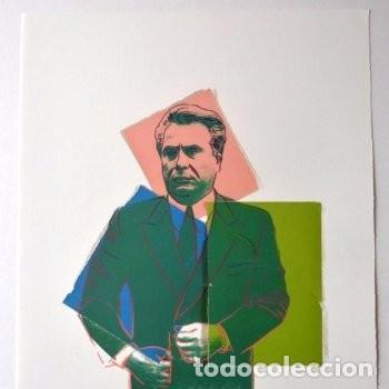 Andy Warhol Litografia 57 x 38 Arches Timbro Secco Israel Castelli AN578