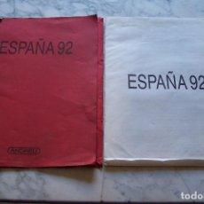Arte: CARPETA ESPAÑA 92, MANUEL MAYORAL. 2 LITOGRAFÍAS BARCELONA Y SEVILLA, NUMERADAS 119/650.. Lote 148167182