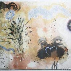 Arte: LITOGRAFÍA ORIGINAL DE GERARD SALA - COMPOSICIÓN ABSTRACTA - FIRMADA Y NUMERADA 73/300 - AÑOS 90. Lote 149307934