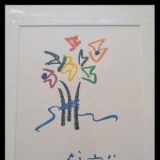 Arte: BONITA LITOGRAFIA DE PICASSO BLUMENSTRAUSS RAMO DE FLORES ENMARCADA Y DE EDICION LIMITADA. Lote 206217248