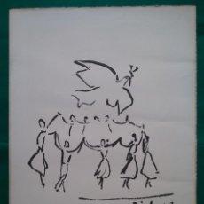 Arte: PICASSO LITOGRAFÍA LA SARDANE DE LA PAIX TIRADA LIMITADA. Lote 149534426