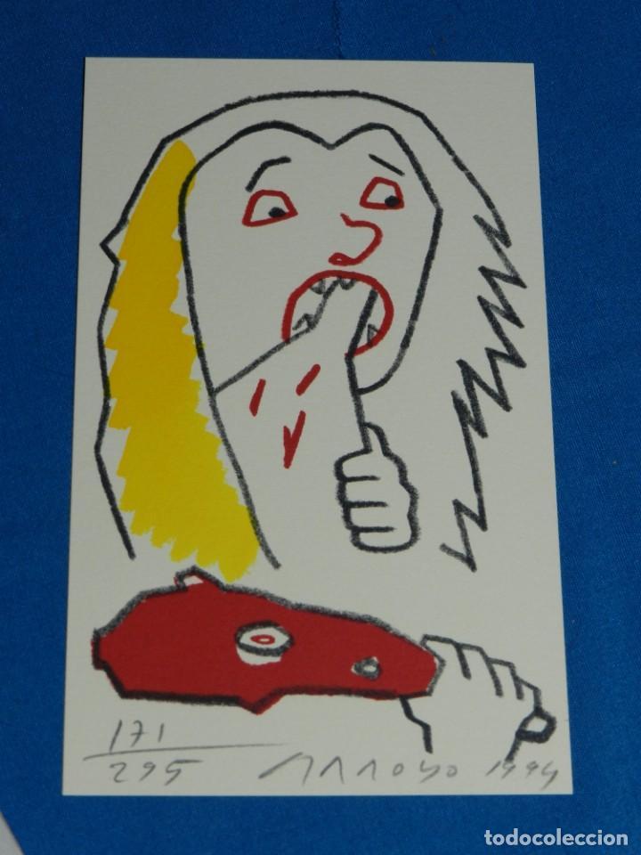 Arte: EDUARDO ARROYO - SATURNE OU LE BANQUET PERPETUEL , EJEMPLAR 171 , MUY DIFICIL !!!!! - Foto 2 - 149866606