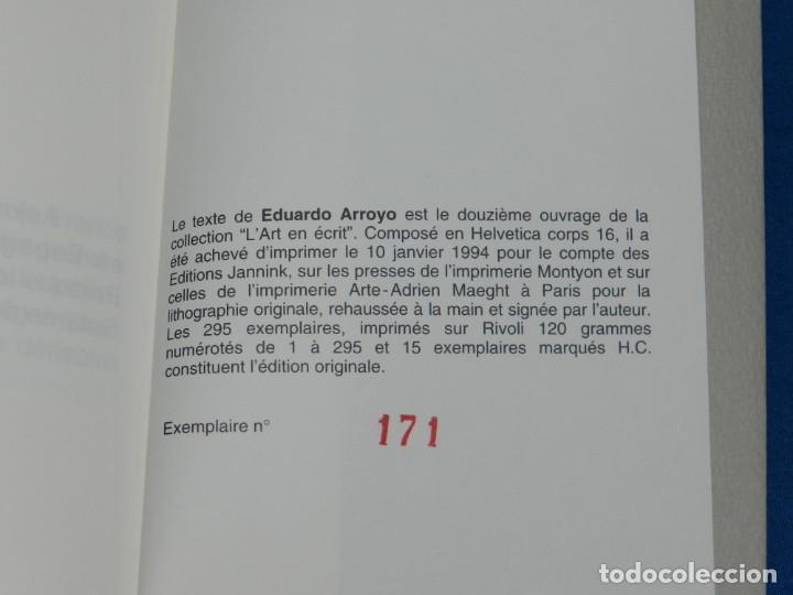 Arte: EDUARDO ARROYO - SATURNE OU LE BANQUET PERPETUEL , EJEMPLAR 171 , MUY DIFICIL !!!!! - Foto 6 - 149866606