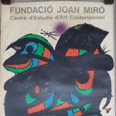 Arte: CARTEL LITOGRÁFICO INAUGURACIÓN FUNDACIÓ JOAN MIRÓ 1976. Lote 243915510
