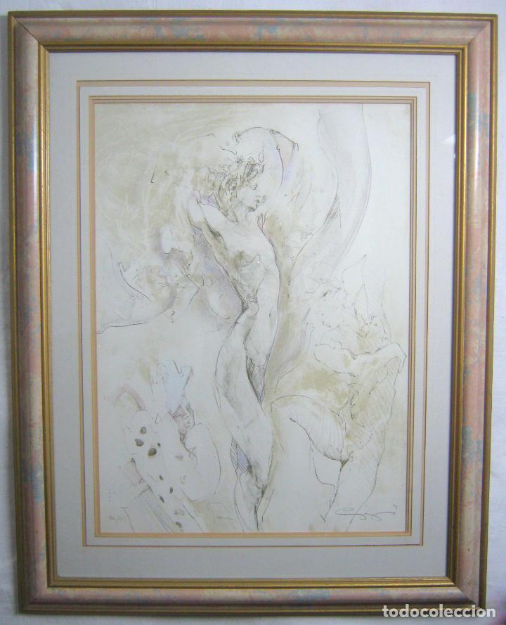 Arte: 97 cm - JÜRGEN GÖRG . Prana ( Alemania) - LITOGRAFIA NUMERADA . DESNUDOS FEMENINO MASCULINO - Foto 2 - 150538082