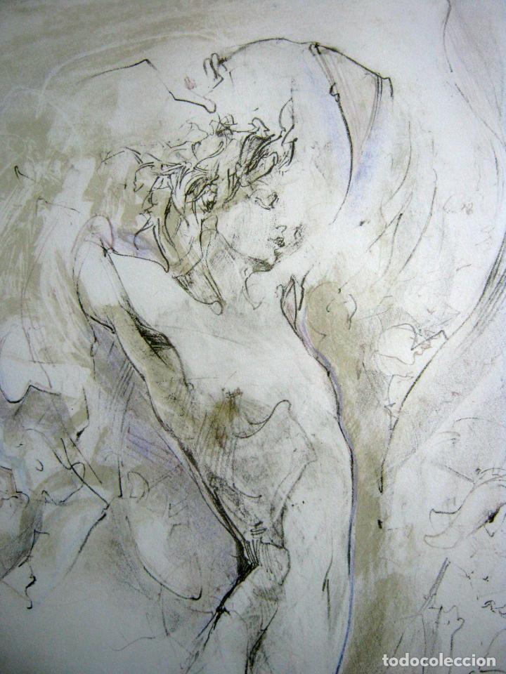 Arte: 97 cm - JÜRGEN GÖRG . Prana ( Alemania) - LITOGRAFIA NUMERADA . DESNUDOS FEMENINO MASCULINO - Foto 3 - 150538082