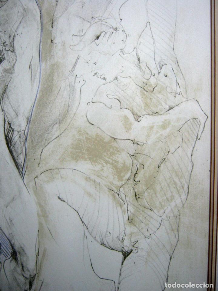 Arte: 97 cm - JÜRGEN GÖRG . Prana ( Alemania) - LITOGRAFIA NUMERADA . DESNUDOS FEMENINO MASCULINO - Foto 4 - 150538082