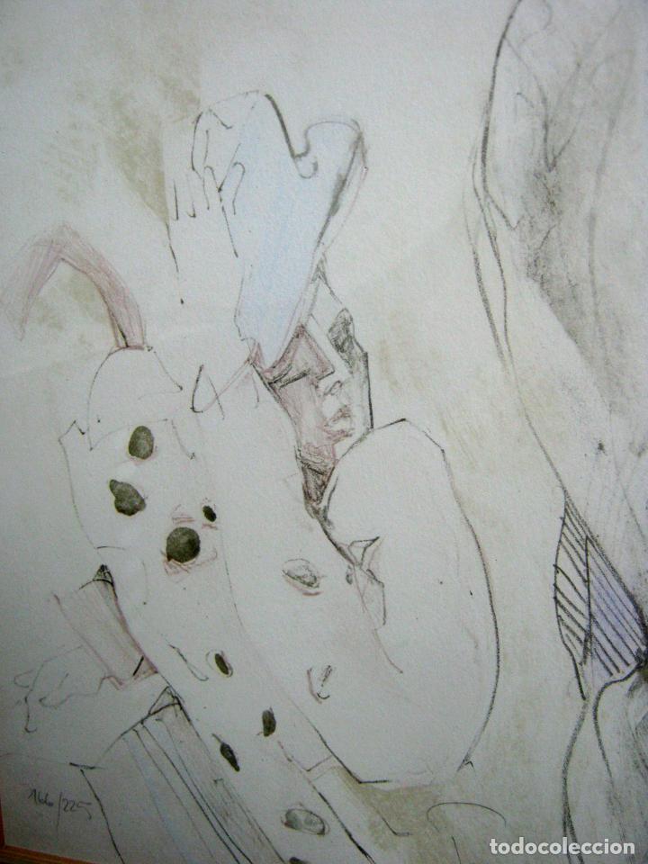 Arte: 97 cm - JÜRGEN GÖRG . Prana ( Alemania) - LITOGRAFIA NUMERADA . DESNUDOS FEMENINO MASCULINO - Foto 5 - 150538082