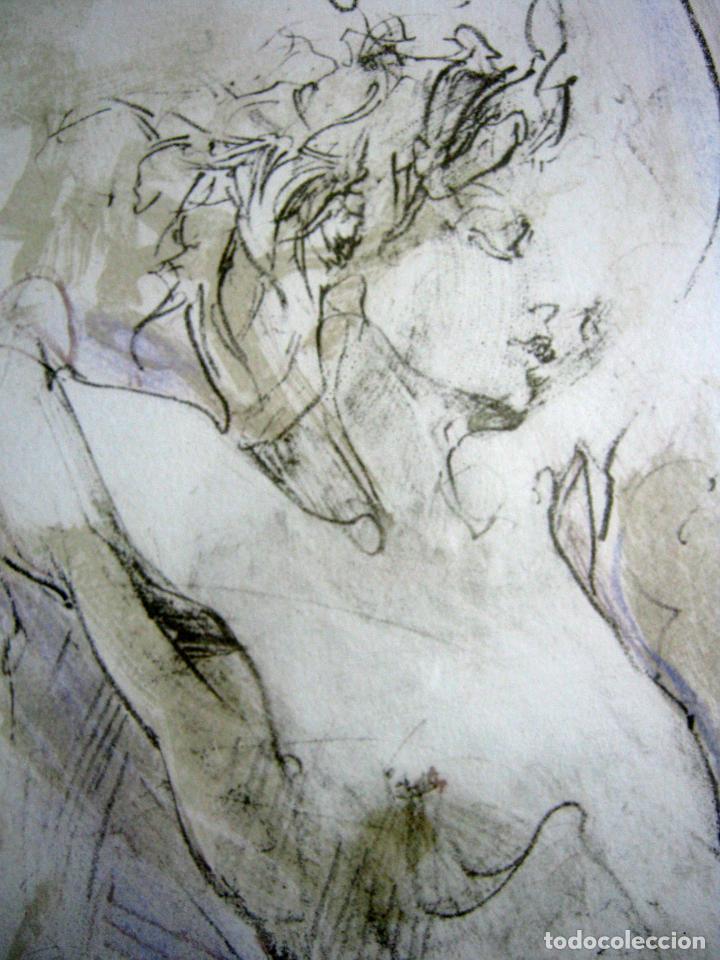 Arte: 97 cm - JÜRGEN GÖRG . Prana ( Alemania) - LITOGRAFIA NUMERADA . DESNUDOS FEMENINO MASCULINO - Foto 6 - 150538082