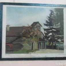 Arte: PRECIOSA LITOGRAFIA ORIGINAL DE RENÉ GUINAND (1892-1983)TEMPLE DE CÉLIGNY, FIRMADO,ALREDEDOR DE 1940. Lote 150743934