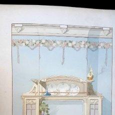 Arte: ART NOUVEAU - MODERNISMO - CHIMENEA - LITOGRAFIA G. RAYNAL - 1900. Lote 150897114