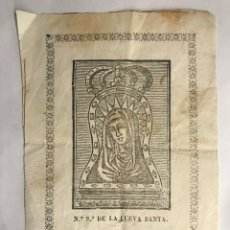 Arte: NUESTRA SEÑORA DE LA CUEVA SANTA, VILLA DE ALTURA (CASTELLÓN) H.1900?. Lote 151166837