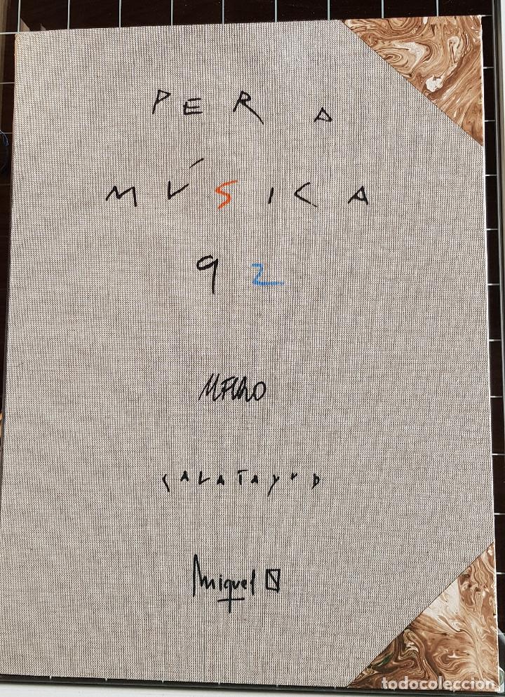 ANDREU ALFARO. MIQUEL CALATAYUD. MIQUEL NAVARRO. CARPETA 34/75 PER A MÚSICA 92.VALENCIA (Arte - Litografías)