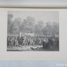 Arte: LITOGRAFIA DE LOUIS LÉOPOLD BOILLY (1761-1845) FIRMADO - RÉJOUISSANCES PUBLIQUES DE 1826- 45 X32 CMS. Lote 151722006