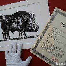 Arte: PABLO PICASSO, AÑOS 80 PABLO PICASSO -CERTIFICADO DE AUTENTICIDAD INCLUIDO. Lote 151758510