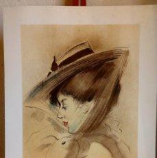 Arte: RAMON CASAS RETRATO DE UNA DAMA LAMINA / ARTISTIC LITHOGRAPHY PORTRAIT OF A LADY. Lote 151890378