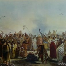 Arte: DANSE DU SCALP DES INDIENS MEUNITARRIS BODMER SXIX. Lote 151890870