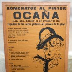 Arte: CARTEL DEL HOMANATGE AL PINTOR JOSE PEREZ OCAÑA. AÑO 1984. Lote 152253490