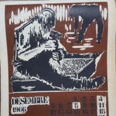 Arte: LITOGRAFÍA LINOLEO DE TORRES MONSÓ 1966. Lote 152286966