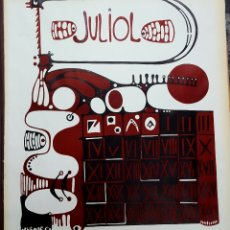 Arte: LITOGRAFÍA LINOLEO DE MOISÉS VILLELIA 1966. Lote 152294120