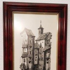 Arte: CUADRO G. ROMERO DE ALMERÍA 1984 ENMARCADO. Lote 152820086