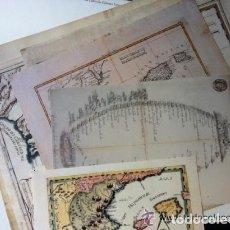 Arte: ESPECTACULAR CARPETA LITOGRAFÍAS GRAN TAMAÑO 75X55 CON SEIS REPRODUCCIONES CARTOGRÁFICAS ANTIGUAS.. Lote 36571951