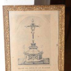 Arte: MUY ANTIGUA LITOGRAFIA DEL CRISTO DE LOS MILAGROS 41X31CM. Lote 153596662