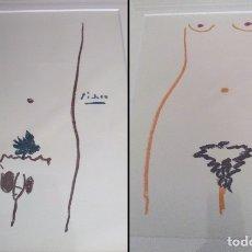 Arte: GRAN PAREJA DE LITOGRAFIAS DE PICASSO ADAN Y EVA ENMARCADAS Y DE EDICION LIMITADA. Lote 153928240