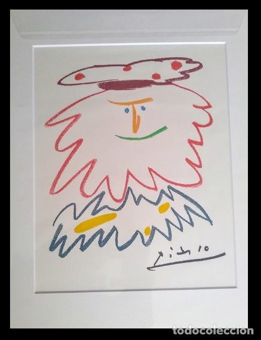 GRAN LITOGRAFIA DE PICASSO DEL REY BADADAKHÁRIDA DE EDICION LIMITADA Y ENMARCADA (Arte - Litografías)