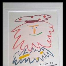 Arte: GRAN LITOGRAFIA DE PICASSO DEL REY BADADAKHÁRIDA DE EDICION LIMITADA Y ENMARCADA. Lote 154362778