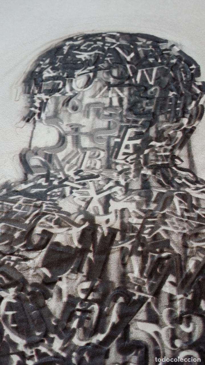Arte: Jaume PLENSA: grabado técnica mixta, papel Japón, firmado y numerado, 2010 - Foto 7 - 154425042