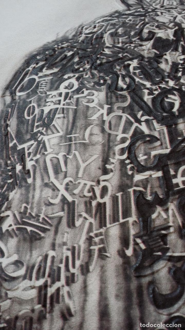 Arte: Jaume PLENSA: grabado técnica mixta, papel Japón, firmado y numerado, 2010 - Foto 9 - 154425042