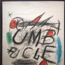 "Arte: LITOGRAFÍA "" UMBRACLE"" 1973 FIRMADA A LÁPIZ MIRO H.C. 75X55 CM PAPEL SALA GASPAR. Lote 154829250"