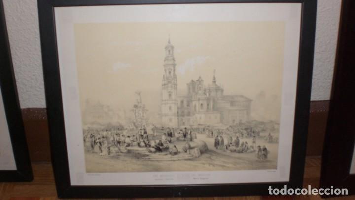Arte: LITOGRAFIA ANTIGUA ENMARCADA BICHEBOIS ET BAYOT - UN MERCADO - Foto 4 - 155250642