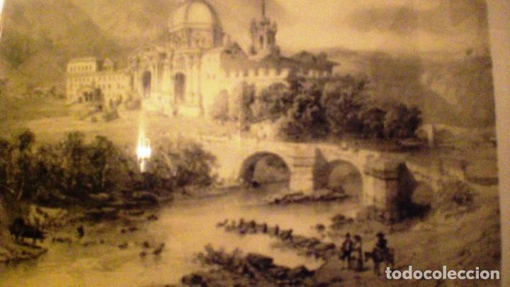 LITOGRAFIA ENMARCADA DE SAN IGNACIO DE LOYOLA, GUIPUZCOA - CICÉRI FIG PAR BAYOT. (Arte - Litografías)