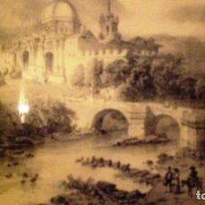 Arte: LITOGRAFIA ENMARCADA DE SAN IGNACIO DE LOYOLA, GUIPUZCOA - CICÉRI FIG PAR BAYOT.. Lote 155250934