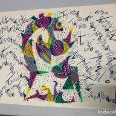 Arte: LIRITOGRAFIA DE RAFAEL ALBERTI OBRA NUNCA FUI A GRANADA. FIRMADA Y CON NUMERO DE SERIE 94/100.. Lote 155334638