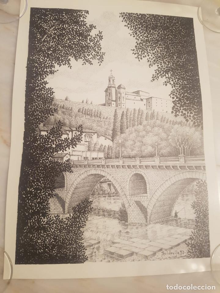 IMAGEN SAN CRISTO Y PUENTE VIEJO DE BALAGUER DE A.SOLDEVILA (Arte - Litografías)