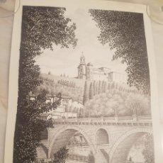Arte: IMAGEN SAN CRISTO Y PUENTE VIEJO DE BALAGUER DE A.SOLDEVILA. Lote 155396974
