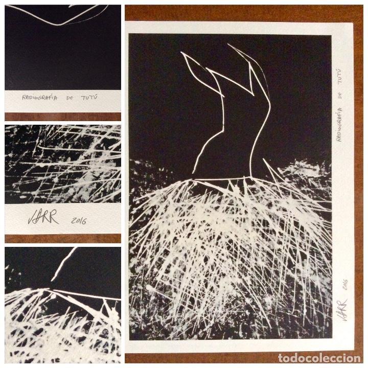 Arte: Envío 8€. Radiografía de tutú del artista JARR firmada PA a mano por el artista.mide 40x30cm - Foto 2 - 136000001