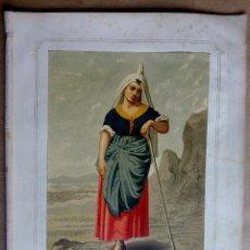 Arte: LA MUJER DE LERIDA, PROVª DE LERIDA, CATALANA POR VICTOR BALAGUER. PRECIOSA LITOGRAFIA AÑO 1873. Lote 156511058
