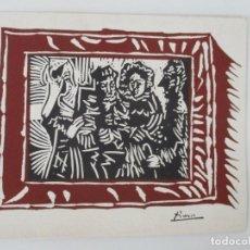 Arte: LITOGRAFÍA ORIGINAL PICASSO - LA FAMILIA DEL SENYOR ESTEVE - 15 LINOLEUMS RECIENTES. Lote 157000686