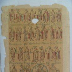 Arte: LAMINA DEL SIGLO XIX CON LITOGRAFIA DE LA GENEALOGIA DE CONDES DE BARCELONA Y REYES DE ARAGON. Lote 157786922