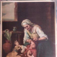 Arte: ESCENA DEL MURILLO 83X40. Lote 158223466