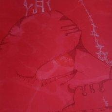 Arte: JOAN PONS. CERTIFICADO AUTENTICIDAD. (RETRATO EN ROJO). ARTE. LITOGRAFÍA. Lote 158348340