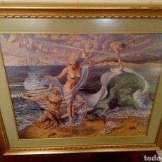 Arte: ALEX ALEMANY. LITOGRAFIA DOBLEMENTE FIRMADA POR EL AUTOR Y DEDICADA. ENMARCADA.. Lote 159252490